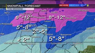 Winter storm moves in Saturday (1/18/19)