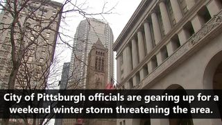 VIDEO: City of Pittsburgh prepares for winter storm