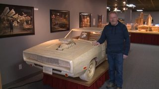 Matchstick artist builds Dodge Charger