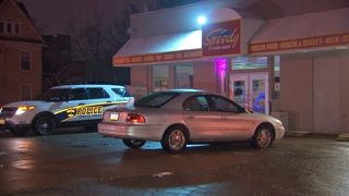 Person hospitalized after car found shot up outside convenience store