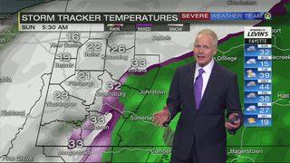 Temperatures plunging overnight (1/19/19)