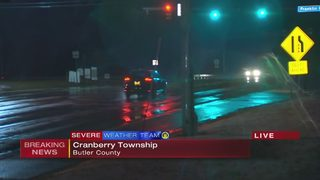 Wet roads expected to become icy overnight in Cranberry