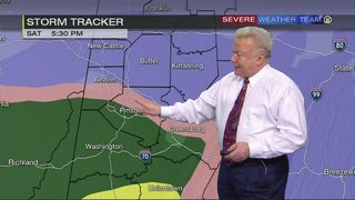 Winter Storm Warning in effect as snow starts to move in (1/19/18)
