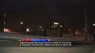 Brentwood Borough School District cancels classes for Monday