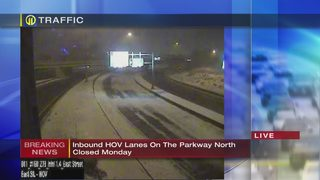 HOV lanes on Parkway North to be closed for Monday morning commute