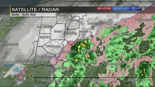 Snow falling in parts of western PA