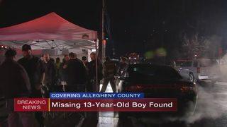 Missing 13-year-old boy found