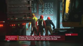 Water service mostly restored to homes around Bigelow Blvd. after main break