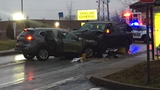 Two cars were involved in a head-on crash on Frankstown Road in Penn Hills around 4:30 p.m. on Feb. 7, 2019.