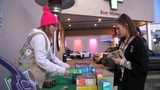 VIDEO: Girl Scout sells cookies outside pot shop