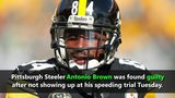 Antonio Brown found guilty of speeding