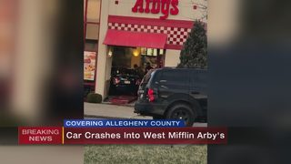 Car crashes into West Mifflin Arby