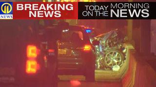 4 people taken to hospital after 5-car crash on McKees Rocks Bridge