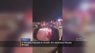 4 people taken to hospital after 5-car crash on McKees Rocks Bridge