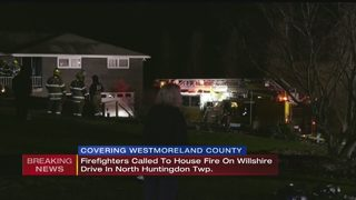 Crews battle house fire in North Huntingdon