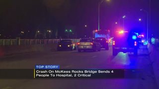 McKees Rocks Bridge back open after four people hurt in multi-vehicle crash