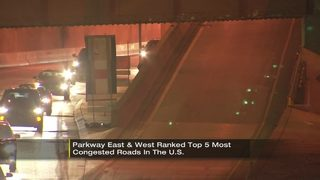 Parkway East, West ranked in top 5 most congested roads in U.S.