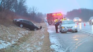 Wintry mix creates slick driving conditions in Butler Co.
