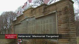 Police seek vandals who damaged veteran