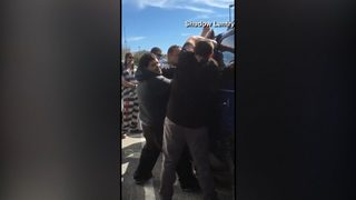 RAW VIDEO: Inmates rescue baby locked in car
