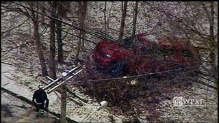 RAW VIDEO: SUV goes over Wilkinsburg hillside