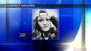 Woman jumps from window, escapes police serving felony warrant