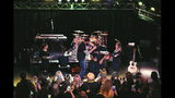 """Brett Keisel and Cam Heyward on stage for ninth annual """"Shear Da Beard."""""""