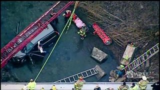 RAW VIDEO: Vehicle crashes into creek