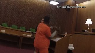 RAW VIDEO: Man attacks lawyer after hearing prison sentence