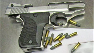 Loaded gun found in man