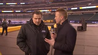 Former Penguins coach Eddie Olczyk talks with Channel 11 ahead of Stadium Series