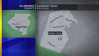 Disabled train blocks South Hills road
