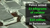 VIDEO: Cocaine worth millions seized in Swissvale