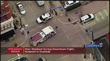 Man stabbed during fight in downtown Pittsburgh; suspect in custody