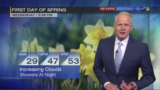 First day of spring Wednesday will bring mild temperatures, rain later