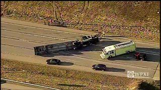 RAW VIDEO: Semi crash on Interstate 79