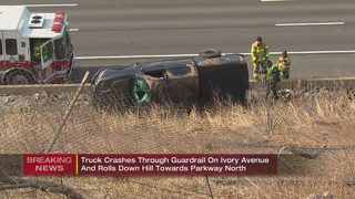 Driver who fled rollover crash in custody