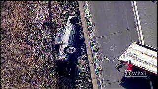 RAW VIDEO: Truck crash on Ivory Avenue