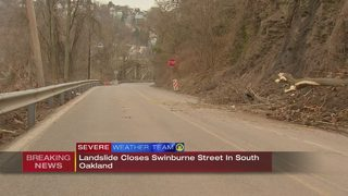 Landslide closes Swineburne Street in South Oakland