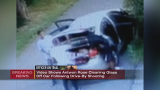 Video shows Antwon Rose cleaning glass off car following drive-by shooting