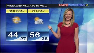 Temperatures warming on Sunday