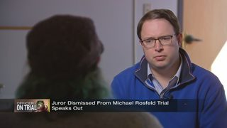 Juror who was removed from Michael Rosfeld case on final day of testimony speaks out