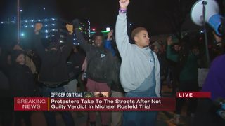 Protesters march through streets following not guilty verdict in Michael Rosfeld trial