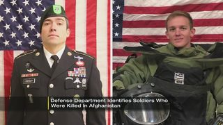 Military IDs 2 US service members killed in Afghanistan