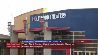 Teenager shot during fight inside local movie theater, man in custody