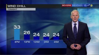 Rain moving out for Tuesday