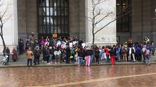 PHOTOS: Student walkout taking place in response to Michael Rosfeld verdict