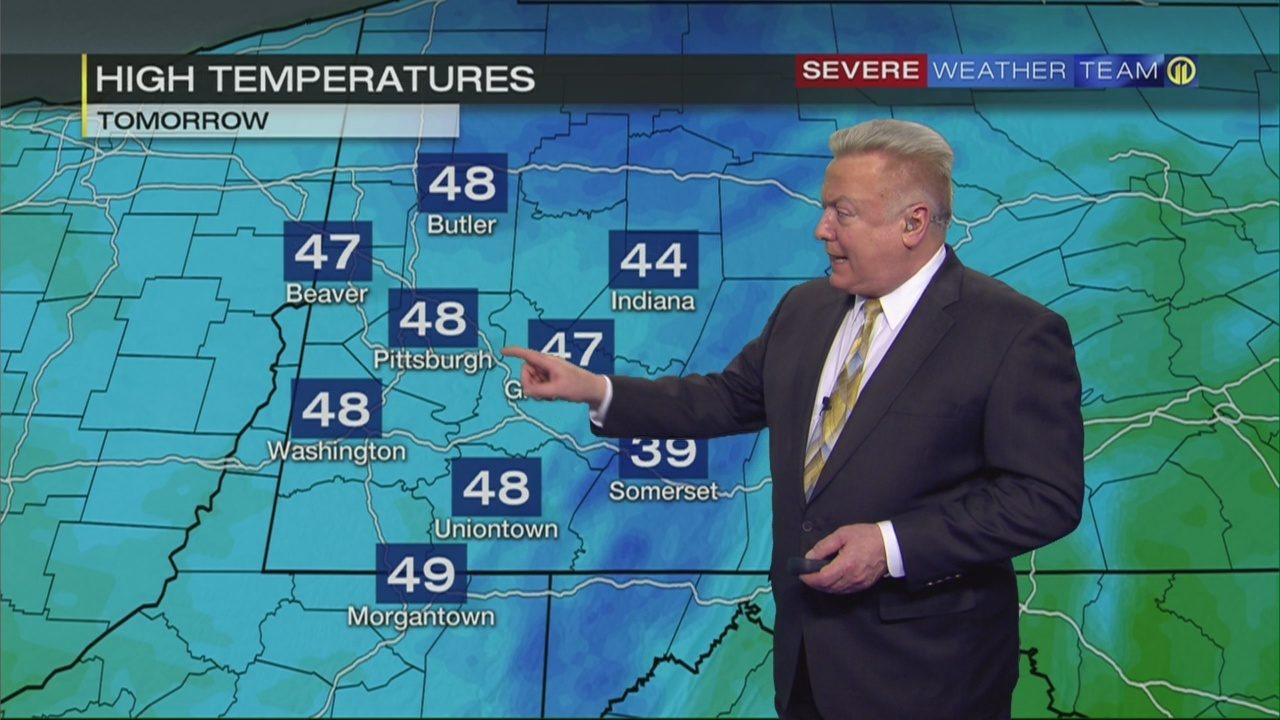 PITTSBURGH WEATHER: Storms moving out, cold air moving in   WPXI