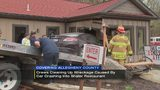 Crews cleaning up wreckage caused by car crashing into Shaler restaurant