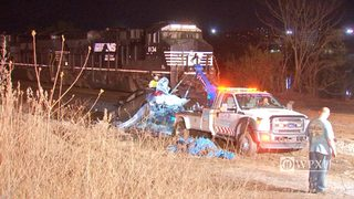 RAW VIDEO: Dravosburg car hit by train